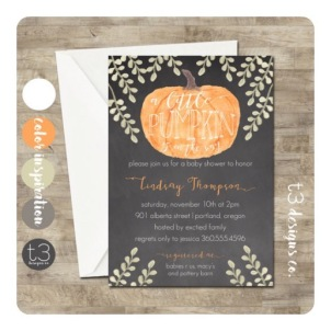 Pumpkin Shower Invitation