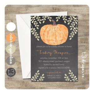 Pumpkin Shower Invitation